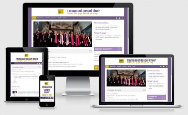 A new web site for Emmanuel Gospel Choir