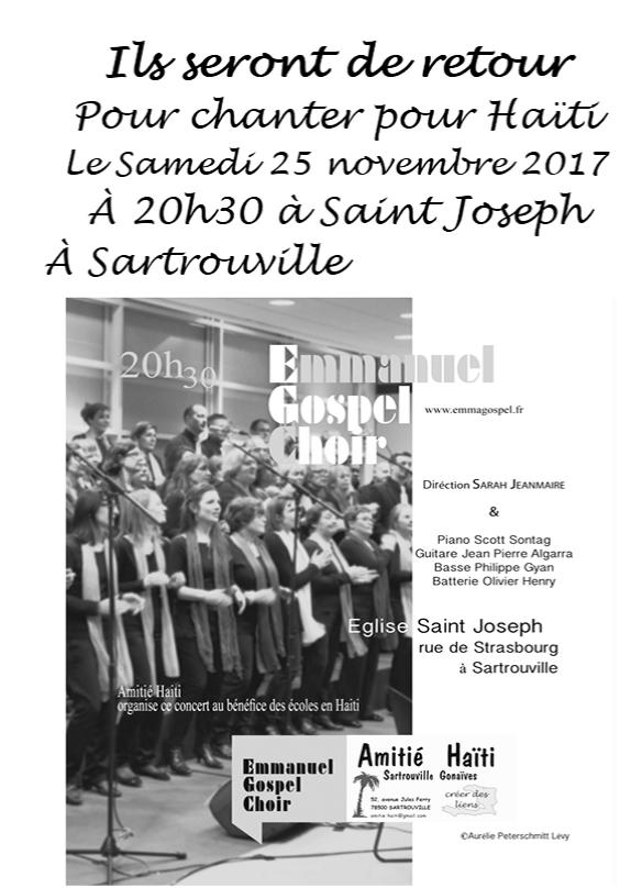 Concert au profit de l'association Amitié Haiti Sartrouville