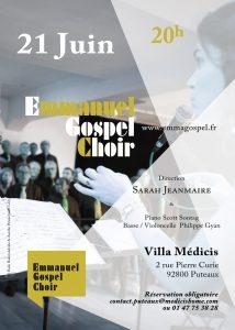 Fête de la musique juin 2018 à la Villa Médicis à Puteaux