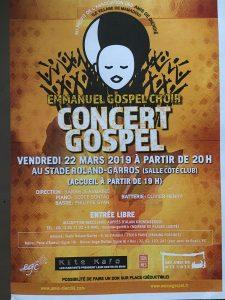 Concert à Roland-Garros