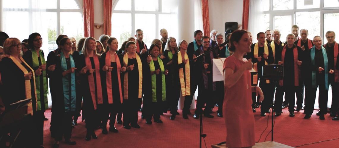 Concert de la fête de la musique à la Villa Medicis à Puteaux le 21 juin 2018